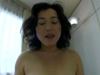 Hungry japanese milf eats cock for very lucky guy