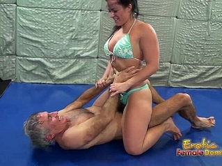 Sexy wrestling with Caroline leads to facesitting wins 6