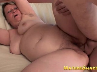 Plump granny Betty fucks younger hunk