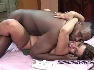 Latina Angel is getting fucked by a black dude