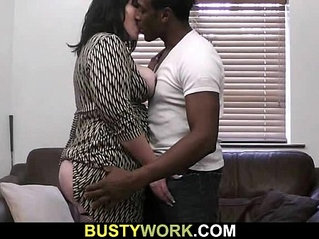 Black guy licks her big ass then fucks