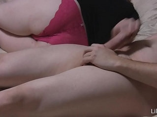 Lilly White tease with blowjob and pantyjob